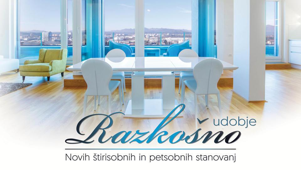 Razkošno udobje novih štirisobnih in petsobnih stanovanj