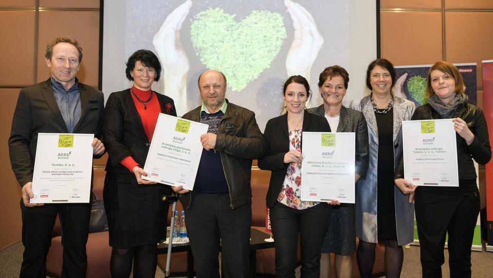 Zmagovalci Agrobiznisa 2018 so mlekarna Planika, zadrugi Tolmin in Sloga ter Humko