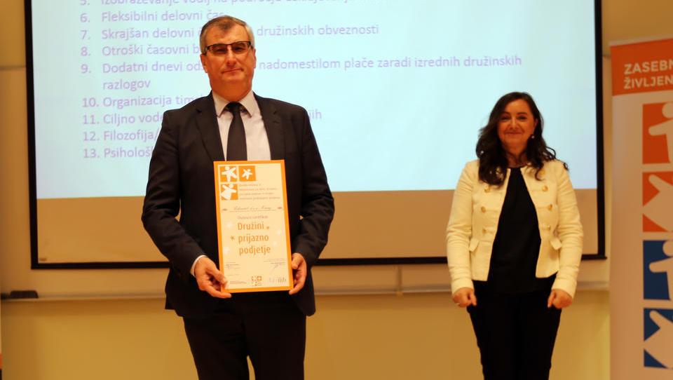 Iskratel prejel certifikat Družini prijazno podjetje