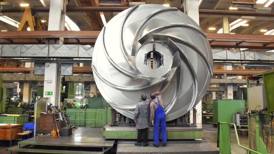 Litostroj Power izdeluje gonilnik za turbino z rekordnim vodnim padcem