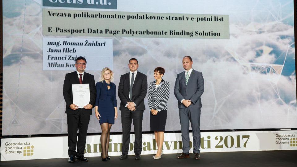 Družbi Cetis zlato priznanje za najboljše slovenske inovacije