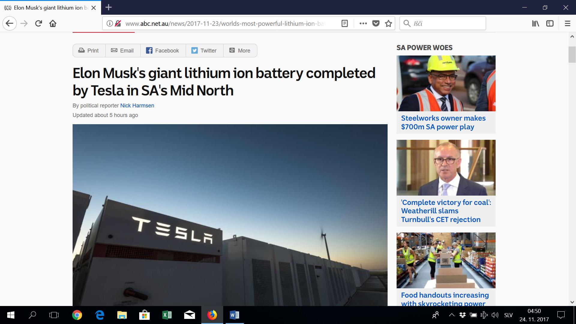 Tesla dokončal najmočnejši baterijski sistem na svetu