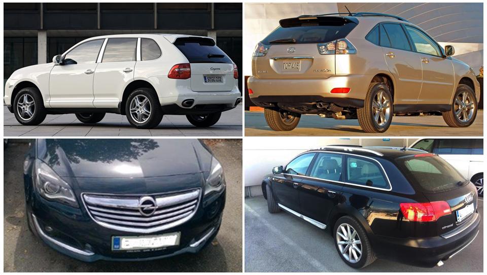 Avti na dražbah: porsche cayenne, BMW X6, insignia, hibridni lexus …
