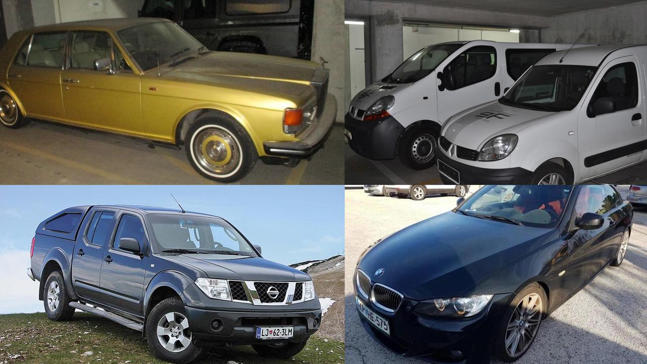 Vozila na dražbi: starodobni rolls-royce, hibridni lexus, BMW, mercedes, tovornjaki …