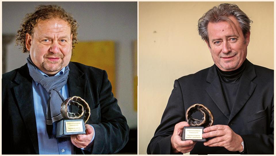 Darko Brlek in Vladimir Rukavina  - nagrajenca Financ za posebne dosežke v gospodarstvu 2016