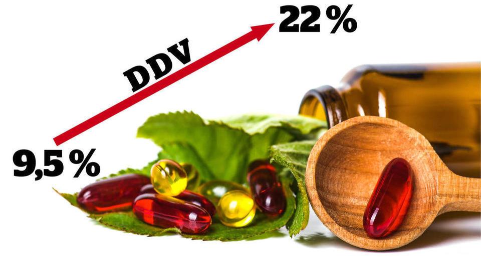 Država bo po novem zaračunavala višji DDV na prehranska dopolnila. Brez spremembe predpisa!