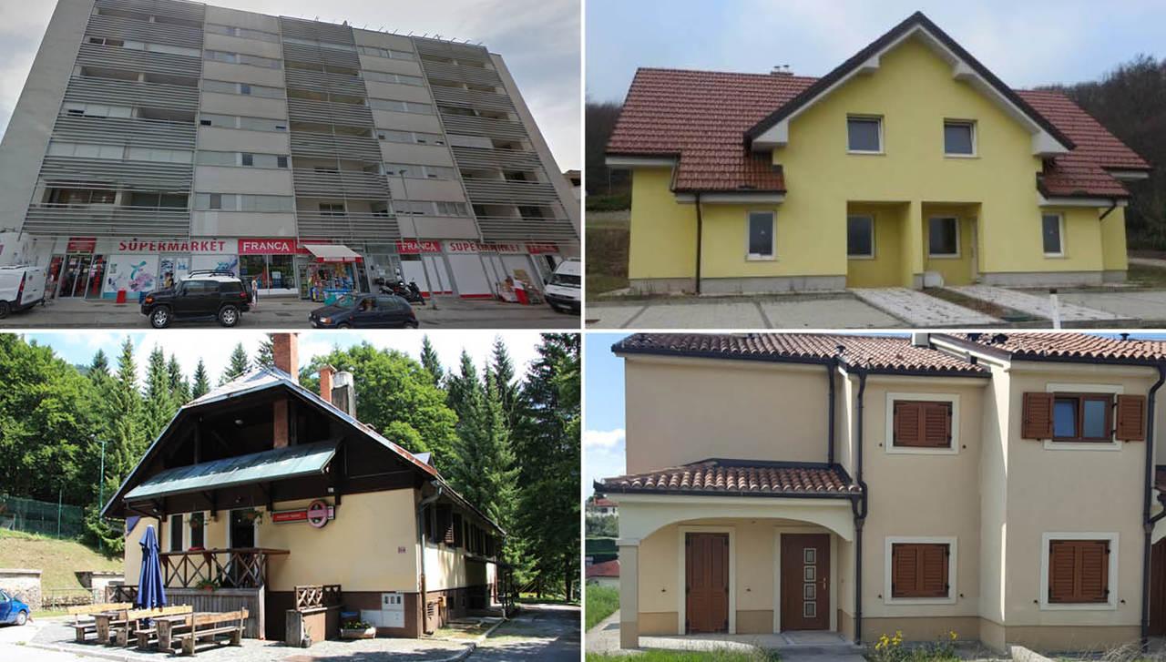 TOP dražbe: nedokončane hiše na Štajerskem in na Obali, gostišče v Podljubelju, apartma v Budvi, ...