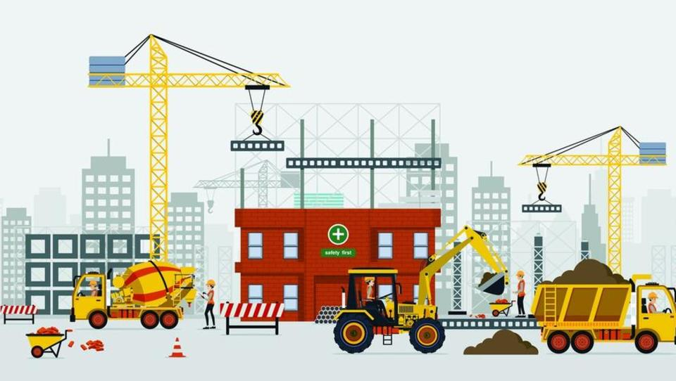 Vrednost gradbenih del na stavbah oktobra na letni ravni višja za 40...