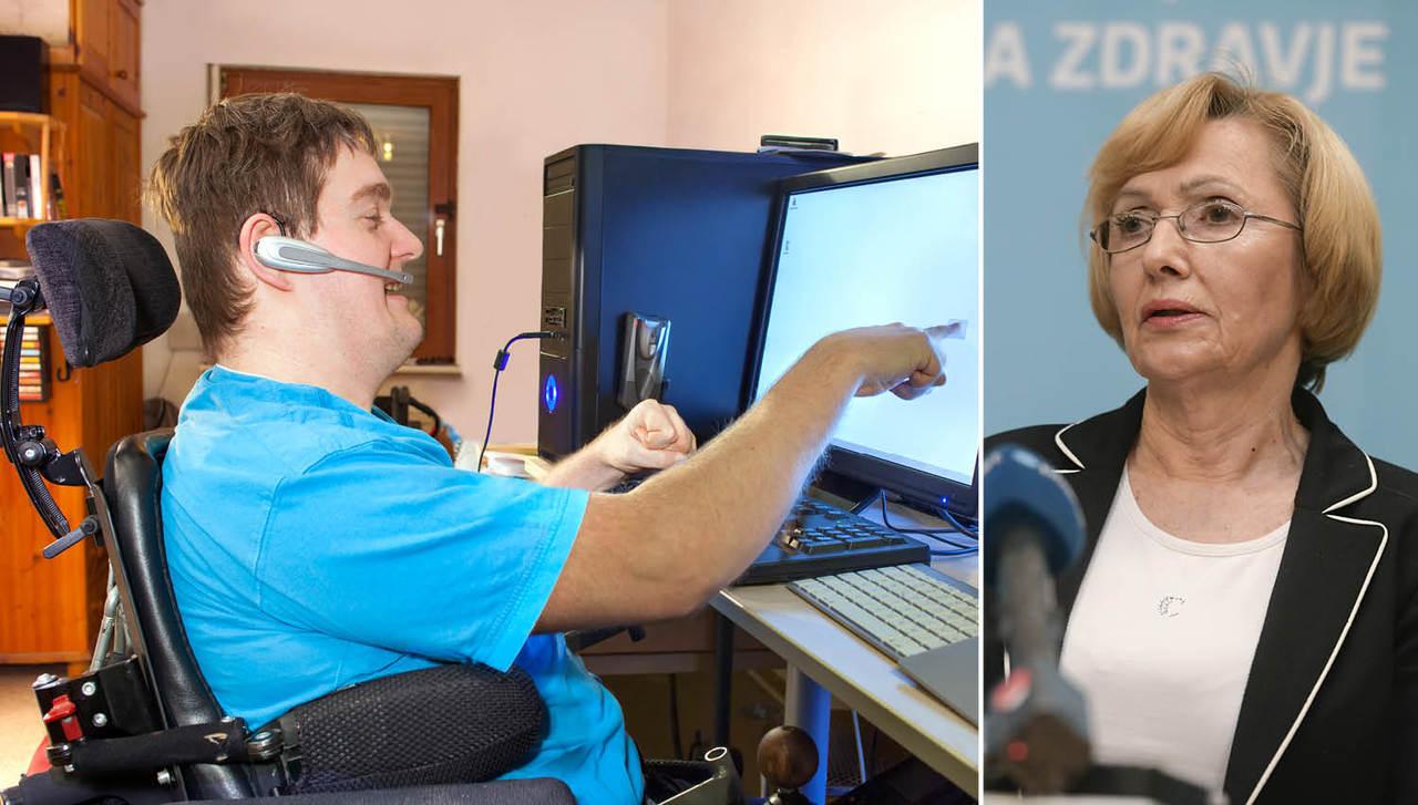 Ministrice Milojke politični prestiž na ramenih invalidov