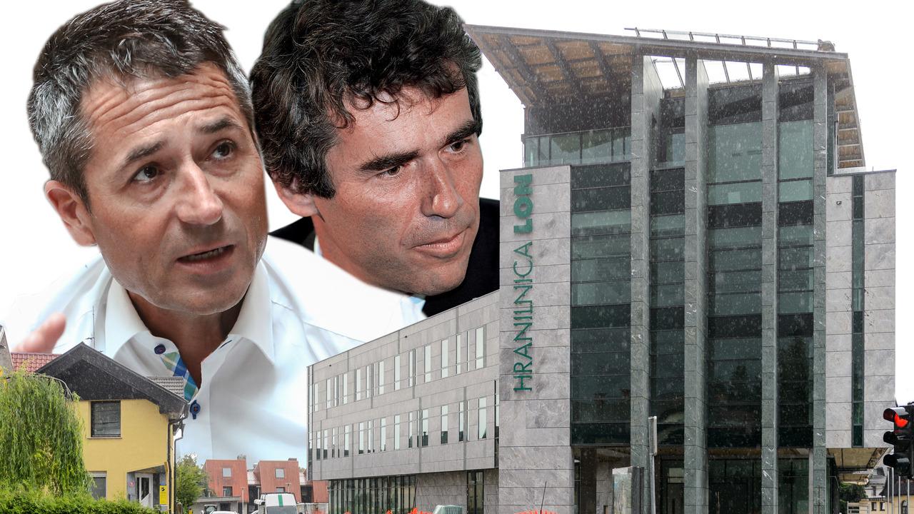 Sergej Racman in Jože Kojc se krepita v Lonu. Kaj vidita v hranilnici?