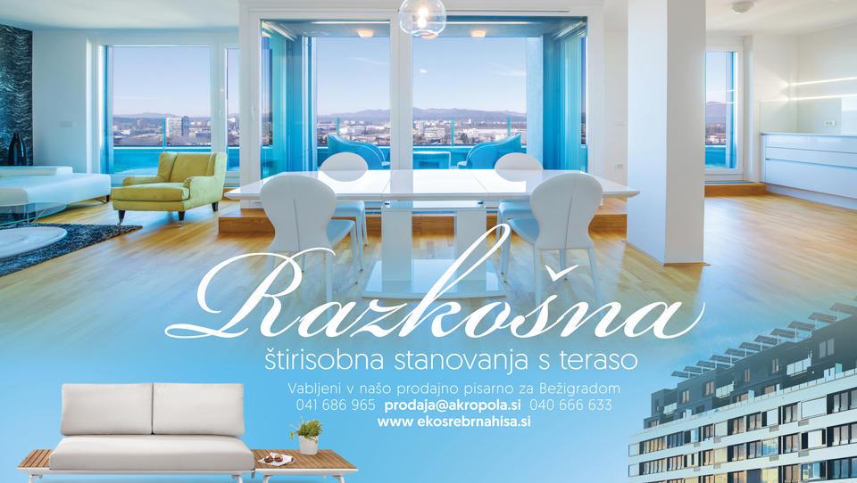 Razkošna nova štirisobna stanovanja, ter novi poslovni prostori v Ljubljani