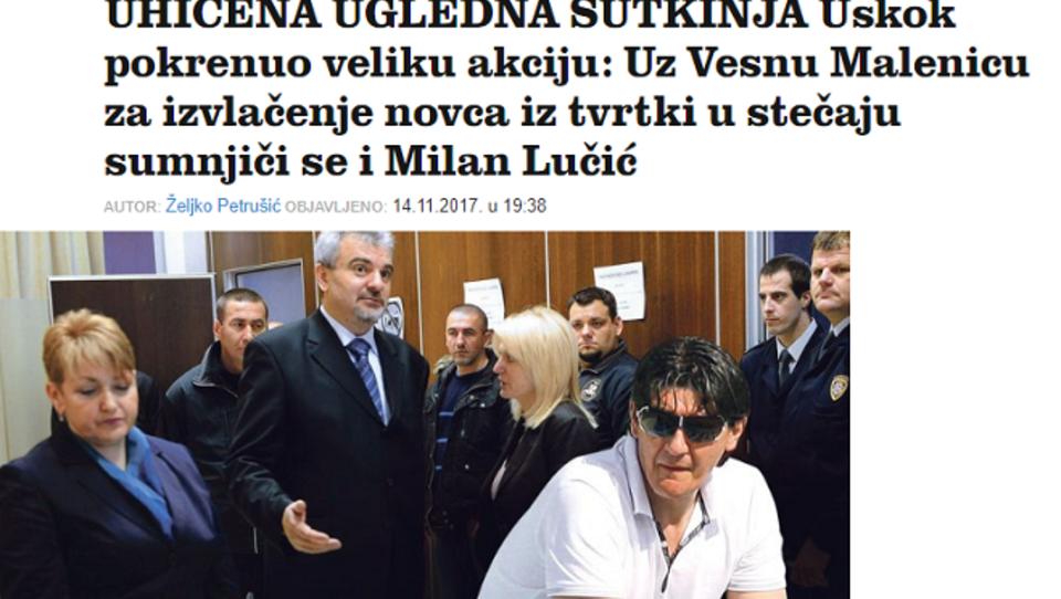 Na Hrvaškem priprli sodnico in stečajnika, ki sta bila v navezi: kako nedolžni pa so ti pri nas?
