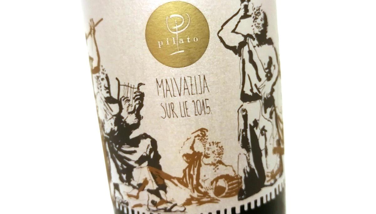 Vino tedna: Malvazija sur lie 2015, Pilato